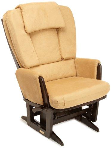 8746 969 8746 Dutailier Nursing Grand Modern Glider Chair With Built In Feeding Pillows Espresso Camel Bak La Furniture