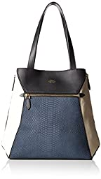 Vince Camuto Maggi Tote, Black/Ivory/Blue, One Size