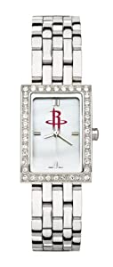 Houston Rockets Ladies Allure Sterling Silver Watch Bracelet by Logo Art