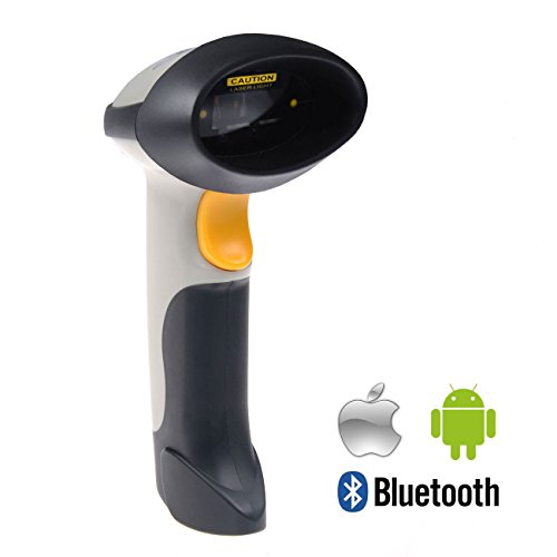 Inateck® Bluetooth Wireless Barcode Scanner (Laser Wireless Bluetooth & Usb2.0 Wired) Usb Rechargeable Barcode Bar-Code Handscanner Operation With Ipad Air/Mini, Iphone, Android Phones, Tablets Or Computers, Support Win7, Win8.1, Ios7, Mac Os X 10.8.4 Or