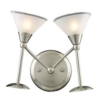 Martini Glass Wall Sconces : Martini Glass Wall Sconce by Westmore Lighing ~ Satin Nickel Finish - - Amazon.com