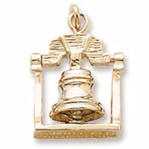 Gold Plated Liberty Bell Charm, Charms For Bracelets And Necklaces