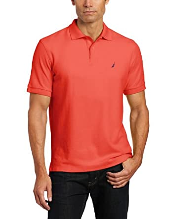 Nautica Men's Fashion Colors Solid Deck Knit, Seaside Red, Medium