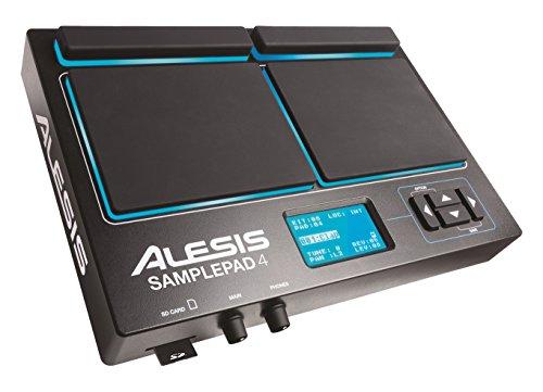 Alesis Sample Pad 4 Percussione Elettronica con 4 Pad Sensibili Alla Dinamica e Lettore Schede SD