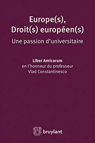 Liber Amicorum en l'honneur du professeur Vlad Constantinesco