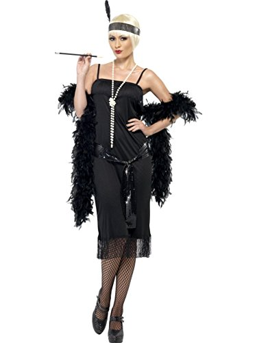 Smiffys Women's Black Flapper Costume -US Dress 14-16
