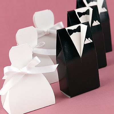 Sunvary 100 Pcs(50 Pairs)gown Tuxedo Bride Groom Wedding Bridal Favor Candy Box Gift Boxes Christmas Gift Boxes