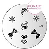 Plaque disque motifs M59 Konad stamping nail art