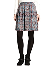 Indigo Collection Paisley Print Mini Skirt