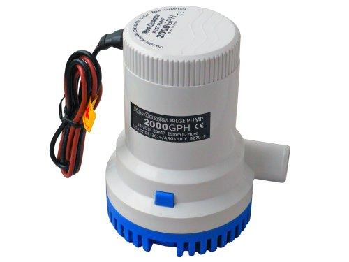 Marine Electric Bilge Pump 12v 2000gph for Boat, Caravan, Rv - Five Oceans