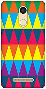 The Racoon Lean Triangles hard plastic printed back case / cover for Xiaomi Redmi Note 3