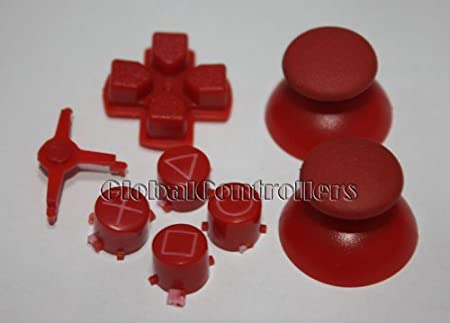 2sets/lot, Red PS3 Controller Mod Kit - Buttons, DPad, Thumbsticks - PS3 MOD
