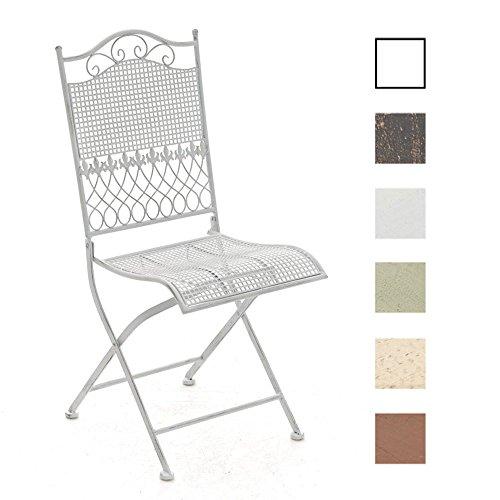 CLP-nostalgischer-Klappstuhl-KIRAN-aus-Eisen-aus-bis-zu-6-Farben-whlen-antik-wei