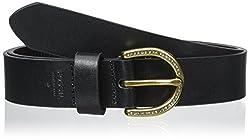 Fossil Women's Glitz C Buckle Belt, Black, Large
