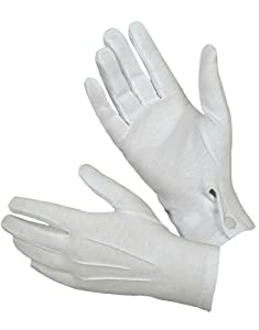 Hatch WG1000S Cotton Parade Glove with Snap Back (White, Small)