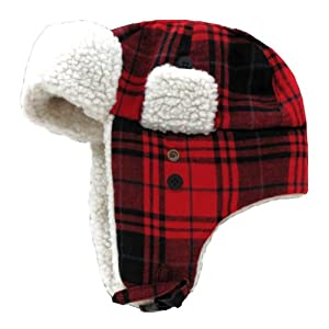 by DECKY PLAID BOMBER HAT SKI SKATE SNOWBOARD CAP HATS LARGE/X-LARGE