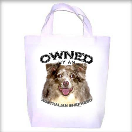 Australian Shepherd Owned Shopping - Dog Toy - Tote Bag