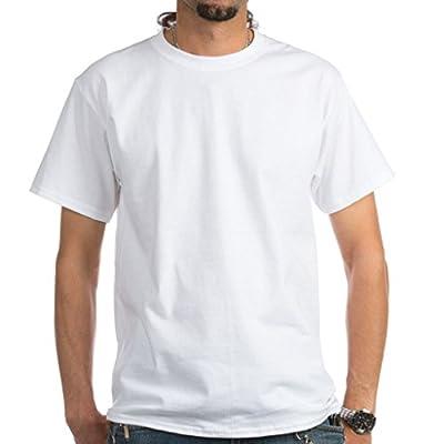 Joyshopping Customize Photo and Text Cotton Short Sleeve Men T-Shirt white