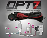 OPT7® Off Road LED LIGHT Bar On-Off Power Switch 40 Amp Relay Wiring Harness (Dual Light Bar Harness)