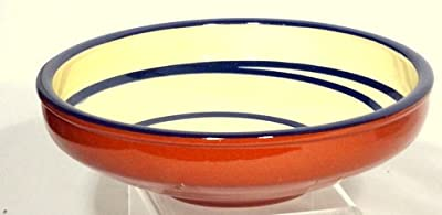 Genuine Terracotta 20cm Serving Bowl - Creamblue Set Of 2 from Be-Active