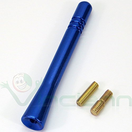 Antenne-voiture-universelle-courte-Alliage-Aluminium-Mtal-9-cm-Bleu-radio-tuning-car