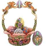 Jim Shore - Heartwood Creek - Bunnies Holding Egg Basket by Enesco - 4013315