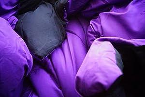 Purple/Black Reversible Comforter - Twin XL