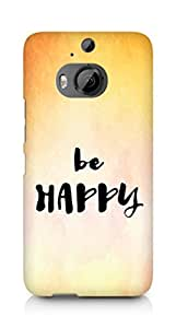 AMEZ be happy Back Cover For HTC One M9+