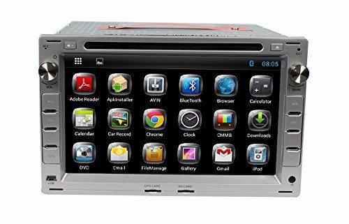 LIKECAR Quad Core 7 pollici Android 4.4.4 Car Stereo Radio Audio lettore DVD di navigazione GPS in Dash per VW Volkswagen HD capacitivo Muti-tocca lo schermo Supporto / bluetooth / sd / wifi / OBD / 1080p / dvr / volante / aria Play / specchio Link, la carta del libero - argento