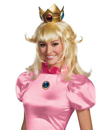Disguise Women's Nintendo Super Mario Bros.Princess Peach Adult Costume Wig