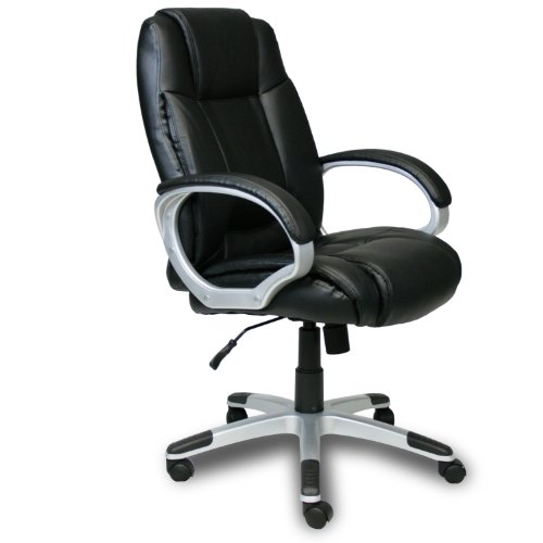 FURINNO WA-6020-4 Hidup boss High Back Ergonomic Leather Executive Chair, Black