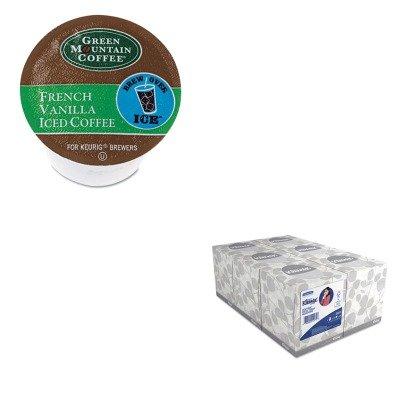 Kitgmt6832Kim21271 - Value Kit - Green Mountain Coffee Roasters Brew Over Ice French Vanilla Iced Coffee K-Cups (Gmt6832) And Kimberly Clark Kleenex White Facial Tissue (Kim21271)