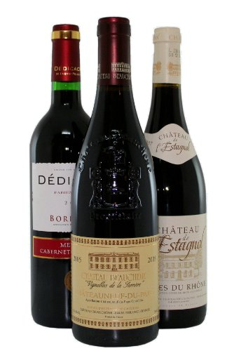 Classic French Reds 3 Bottle Selection - 3 x 75cl