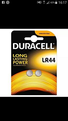 Duracell LR44 Piles bouton alcalines LR44/A76/V13GA Pile longue durée, calculatrice, miraclebeam Laser Jouet pour animal domestique LED Lampes numériq