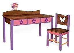 Room Magic Desk/Chair Set, Magic Garden Chocolate
