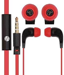 Jkobi Cool Red HQ 3.5mm Jack In Ear bud Earphones Mini Size HeadSet Headphone Handsfree with Mic For Sony Xperia E4 (Dual Sim)