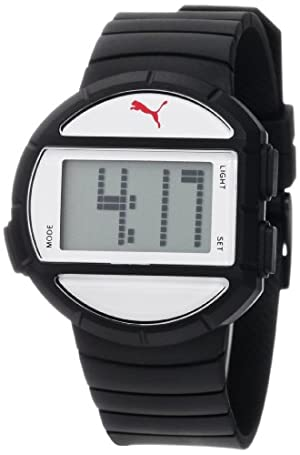 PUMA Women's PU910892003 Half-Time Small Digital Black White Watch