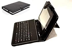 Leather Case Cover with USB Keyboard (QWERTY) for 7 inch Tablet PCs