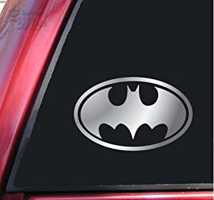 Batman Bat Symbol Vinyl Decal Sticker - Shiny Chrome