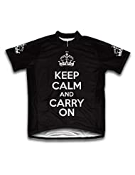 Keep Calm and Carry On Short Sleeve Cycling Jersey for Women