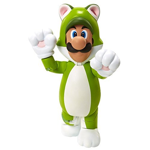 World of Nintendo 91448 4 Cat Luigi Action Figure by World of Nintendo