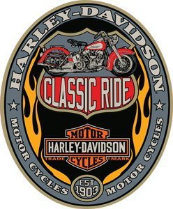 Harley-Davidson® Classic Ride Oval Embossed Tin Sign