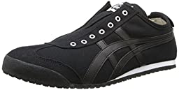 Onitsuka Tiger Mexico 66 Slip-On Classic Running Shoe, Black/Black, 11.5 M US