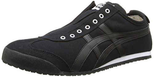Onitsuka Tiger Mexico 66 Slip-On Classic Running Shoe, Black/Black, 12 M US