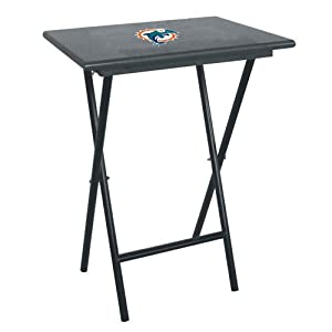 Brand New Miami Dolphins NFL TV Tray Set with Rack by Things for You
