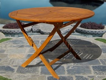 VIFAH V1145 Outdoor Wood Round Table