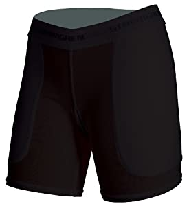 Stromgren Patented Low Rise 5-Inch Inseam Sliding Short with Polyester Cloth Pads (Black, X-Small)