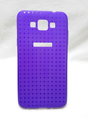 Iway Textured Design Matte & Glossy Finish Soft TPU Back Cover for Samsung Galaxy Grand Max 7202 - Purple
