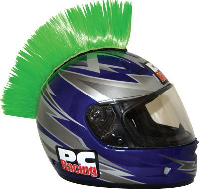 Peel n Stick Mohawk Green (ea) for any Helmet By PC Racing (PCHMGREEN)