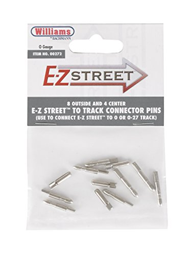 Williams by Bachmann E-Z Street To Track Connector 8 Outside and 4 Center Pins - O Scale
